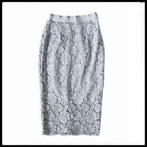 ⭐SALE⭐ H&M Floral Lace Pencil Skirt